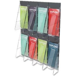 Deflect-o Pamphlet Wall Rack - Office Supplies