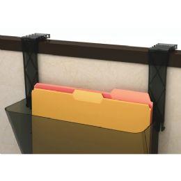 6 Units of Deflect-o Plastic Partition Brackets Break Resistant-Black - Office Supplies