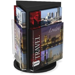 Deflect-o Rotating Countertop Display 3-Sided Magazine Size - Office Supplies