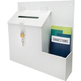 Deflect-o Suggestion Box with Lock - Office Supplies
