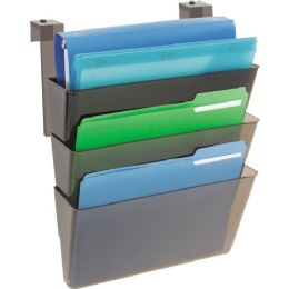 Deflect-o Three Pocket Partition Letter Wall System - Office Supplies