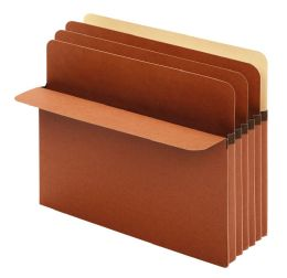"5 Units of Divider Pockets, 5.25"" Expansion, 3 Dividers, Letter Size, 10/bx, 5/bx Per Rsc - Dividers & Index Cards"