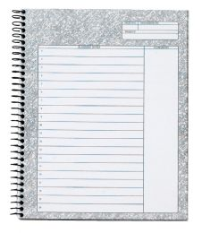 "12 Units of Docket Gold Project Planner Pad, Wirebound, 8-1/2"" x 6-3/4"", Project Rule, White Paper, Black Covers, 70 SH/PD - Planners & Journals"