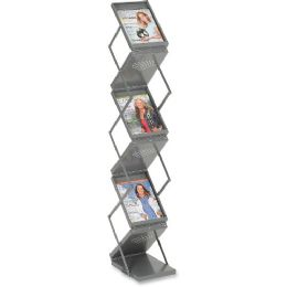 Safco Double Sided Folding Literature Display - Office Supplies