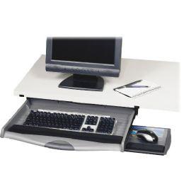 9 Units of Safco Ergo-Comfort Premium Underdesk Keyboard Drawer - Office Supplies