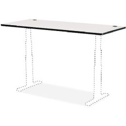 Safco Gray Lam. Electric Ht-adj. Table Tabletop - Office Supplies