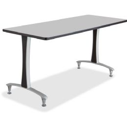 2 Units of Safco Gray Rumba Training Table w T-legs/Glides - Office Supplies