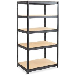 5 Units of Safco Heavy-duty Boltless Steel Shelving Unit - Office Supplies