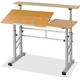 Safco Height Adjustable Split Level Drafting Table - Office Supplies