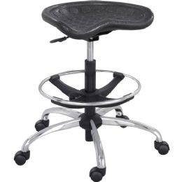 Safco Height Adjustable Stool - Office Supplies
