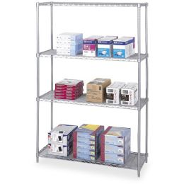4 Units of Safco Industrial Wire Shelving - Office Supplies
