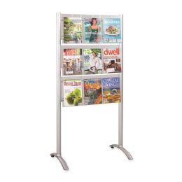 4 Units of Safco Luxe Literature Rack - Office Supplies