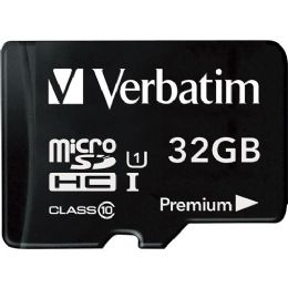 Verbatim 32GB microSDHC Card (Class 10) w Adapter - Flash Drives