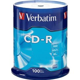 Verbatim 94554 CD Recordable Media - CD-R - 52x - 700 MB - 100 Pack Spindle - Data Media