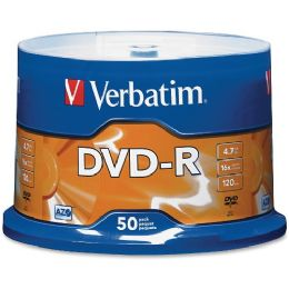 Verbatim 95101 Dvd Recordable Media - DvD-R - 16x - 4.70 Gb - 50 Pack Spindle - Data Media