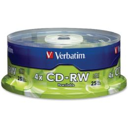 Verbatim 95169 Cd Rewritable Media - CD-Rw - 4x - 700 Mb - 25 Pack Spindle - Data Media