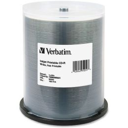 Verbatim 95252 CD Recordable Media - CD-R - 52x - 700 MB - 100 Pack Spindle - Data Media