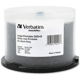 Verbatim Datalifeplus 94917 Dvd Recordable Media - Dvd+r - 16x - 4.70 Gb - 50 Pack Spindle - Data Media