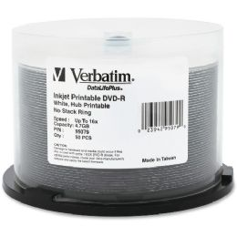 Verbatim DataLifePlus 95079 DVD Recordable Media - DVD-R - 16x - 4.70 GB - 50 Pack Spindle - Data Media