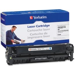 8 Units of Verbatim HP CC531A Compatible Cyan Toner Cartridge - Ink & Toner Cartridges