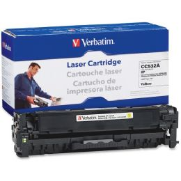 8 Units of Verbatim HP CC532A Compatible Yellow Toner Cartridge - Ink & Toner Cartridges
