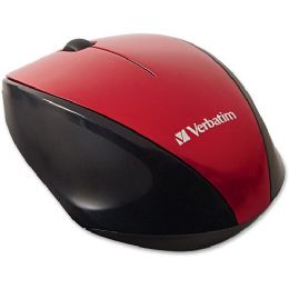 Verbatim Wireless MultI-Trac Blue Led Optical Mouse - Red - Consumer Electronics