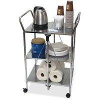 Vertiflex Click-N-Fold Service Cart - Office Supplies