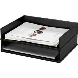 Victor Midnight Black Stacking Letter Tray - Office Supplies