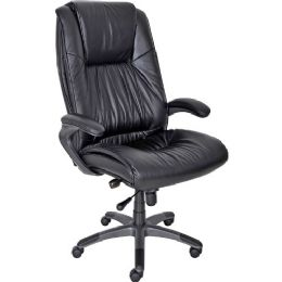 Mayline Ultimo Leather High-Back Chair - Office Chairs