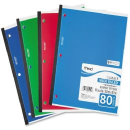 Mead 05222 1-Subject Wireless Notebook - Notebooks