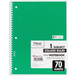 Mead 1-Subject Wirebound Ruled Notebook - Notebooks