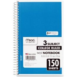 Mead 3-Subject Wirebound College Ruled Notebook - Notebooks