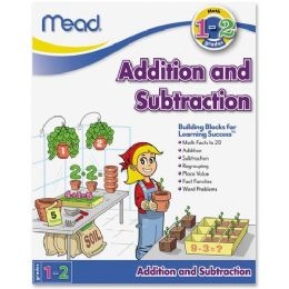 456 Units of Mead Addition and Subtraction Workbook Grades 1-2 Education Printed Book for Mathematics - Office Supplies
