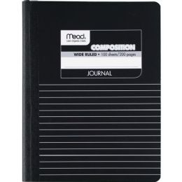 Mead Square Deal Black Marble Journal - Office Supplies
