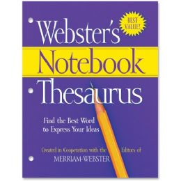 Merriam-Webster 3-Hole Punch Paperback Thesaurus Dictionary Printed Book - English - Paper