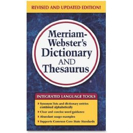 Merriam-Webster Dictionary/Thesaurus Printed Book - Office Supplies