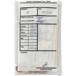 MMF 2.75mil Cash Transmittal Bags - Office Supplies