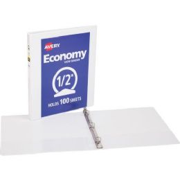 "1/2"" Avery Economy Reference View Binder - Bulk Minimum (264) - Binders"