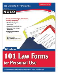 101 Law Forms for Personal Use (book) - Office Supplies