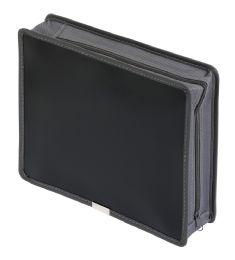 "6 Units of 3"" Poly Zip Wallet, Black, Letter - File Folders & Wallets"