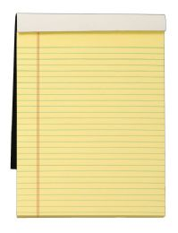 """12 Units of Docket Gold Writing Tablet, 8-1/2"""" x 11-3/4"""", Perforated, Canary, Legal/Wide Rule, 70 SH/PD - Note Books & Writing Pads"""