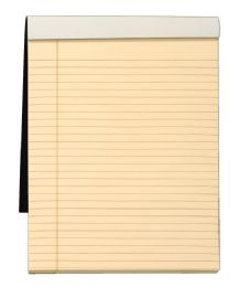 """12 Units of Docket Gold Writing Tablet, 8-1/2"""" X 11-3/4"""", Perforated, Ivory Paper, Black Covers, Legal/wide Rule, 70 Sh/pd - Paper"""