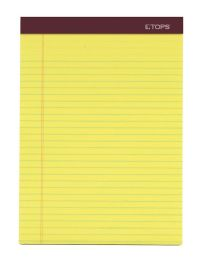 """9 Units of Double Docket Gold Writing Tablet, 8-1/2"""" x 11-3/4"""", Perforated, Canary, Legal/Wide Rule, 100 SH/PD, 2 PD/PK - Note Books & Writing Pads"""