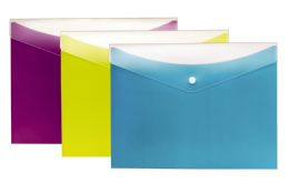 8 Units of Dual Pocket Snap Envelope, 3pk - Envelopes