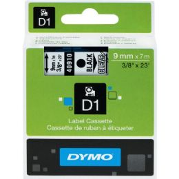 Dymo Black on Clear D1 Label Tape - Labels