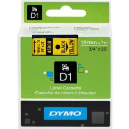 Dymo Black on Yellow D1 Label Tape - Labels