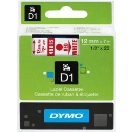 Dymo Red on White D1 Label Tape - Labels