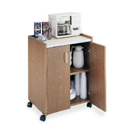 4 Units of Safco Mobile Refreshment Utility Cart - Office Supplies