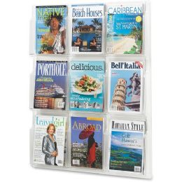 Safco Nine Magazines Literature Display Rack - Office Supplies
