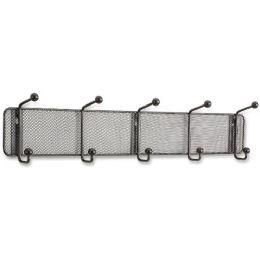 Safco Onyx 5-hook Steel Mesh Wall Rack - Office Supplies